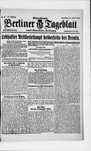 Berliner Tageblatt und Handels-Zeitung on Jan 26, 1918
