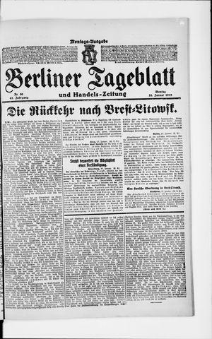 Berliner Tageblatt und Handels-Zeitung vom 28.01.1918