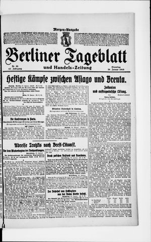 Berliner Tageblatt und Handels-Zeitung vom 29.01.1918