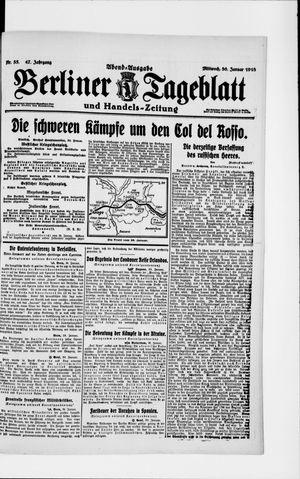 Berliner Tageblatt und Handels-Zeitung vom 30.01.1918