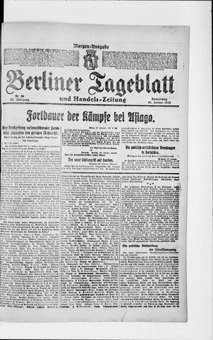 Berliner Tageblatt und Handels-Zeitung vom 31.01.1918