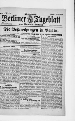 Berliner Tageblatt und Handels-Zeitung vom 04.02.1918