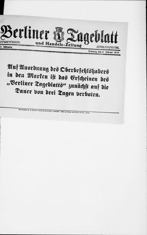 Berliner Tageblatt und Handels-Zeitung vom 05.02.1918