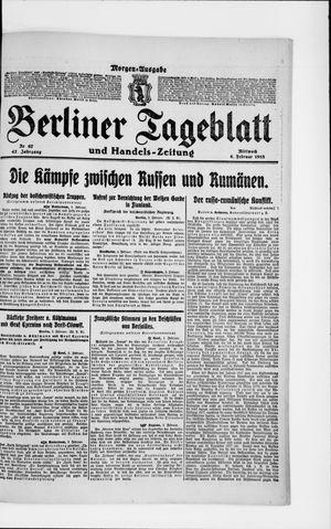 Berliner Tageblatt und Handels-Zeitung vom 06.02.1918