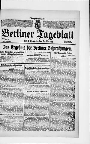 Berliner Tageblatt und Handels-Zeitung vom 07.02.1918