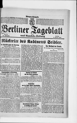 Berliner Tageblatt und Handels-Zeitung on Feb 8, 1918