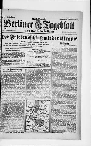 Berliner Tageblatt und Handels-Zeitung vom 09.02.1918