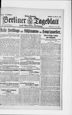 Berliner Tageblatt und Handels-Zeitung vom 12.02.1918