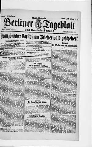 Berliner Tageblatt und Handels-Zeitung vom 13.02.1918