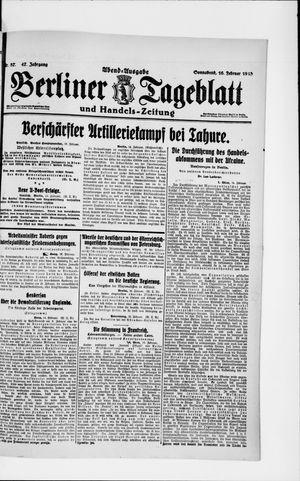 Berliner Tageblatt und Handels-Zeitung vom 16.02.1918