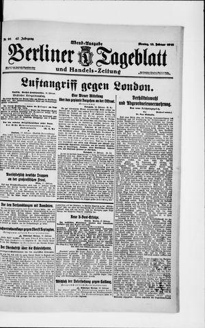 Berliner Tageblatt und Handels-Zeitung vom 18.02.1918