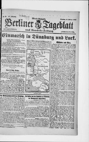 Berliner Tageblatt und Handels-Zeitung vom 19.02.1918