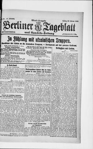 Berliner Tageblatt und Handels-Zeitung vom 22.02.1918