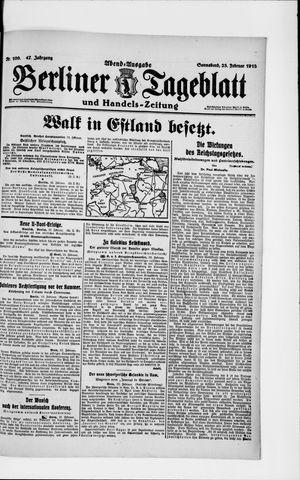 Berliner Tageblatt und Handels-Zeitung vom 23.02.1918