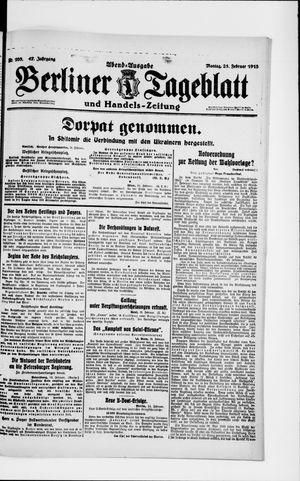 Berliner Tageblatt und Handels-Zeitung vom 25.02.1918