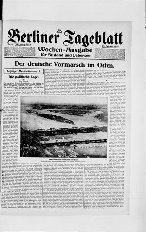 Berliner Tageblatt und Handels-Zeitung vom 27.02.1918