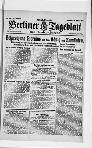 Berliner Tageblatt und Handels-Zeitung vom 28.02.1918