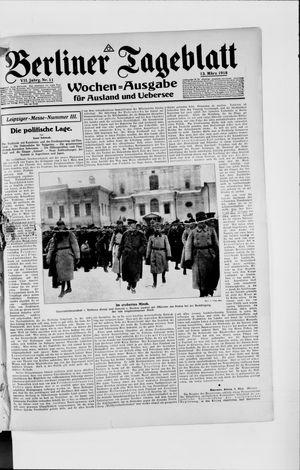 Berliner Tageblatt und Handels-Zeitung vom 13.03.1918