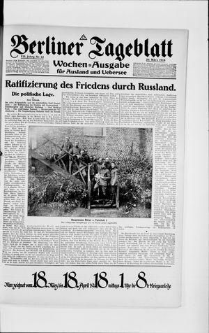 Berliner Tageblatt und Handels-Zeitung vom 20.03.1918