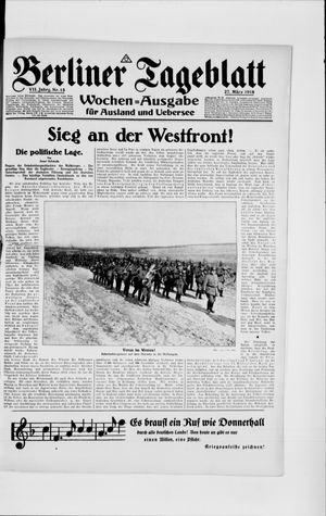 Berliner Tageblatt und Handels-Zeitung vom 27.03.1918