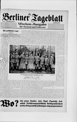 Berliner Tageblatt und Handels-Zeitung vom 04.04.1918