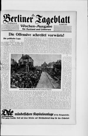 Berliner Tageblatt und Handels-Zeitung vom 10.04.1918