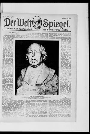 Berliner Tageblatt und Handels-Zeitung on Apr 14, 1918