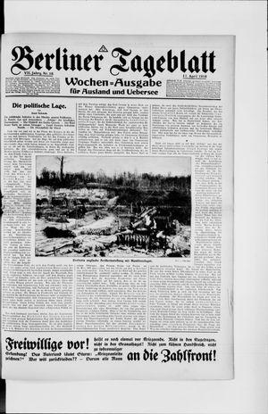 Berliner Tageblatt und Handels-Zeitung on Apr 17, 1918