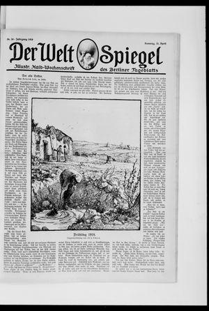 Berliner Tageblatt und Handels-Zeitung vom 21.04.1918