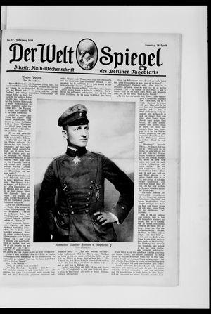 Berliner Tageblatt und Handels-Zeitung vom 28.04.1918