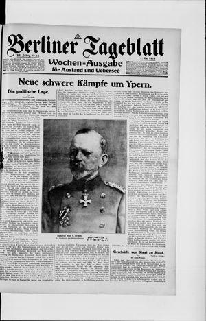 Berliner Tageblatt und Handels-Zeitung vom 01.05.1918