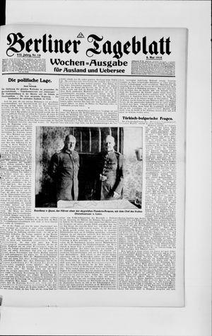 Berliner Tageblatt und Handels-Zeitung vom 08.05.1918