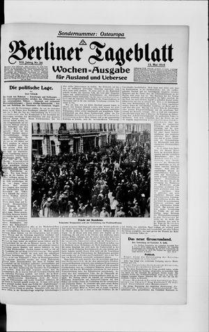 Berliner Tageblatt und Handels-Zeitung vom 15.05.1918
