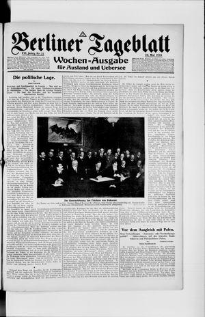 Berliner Tageblatt und Handels-Zeitung vom 23.05.1918