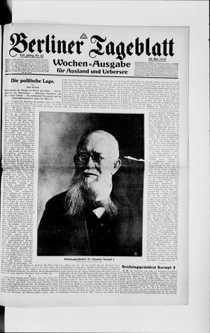 Berliner Tageblatt und Handels-Zeitung vom 29.05.1918
