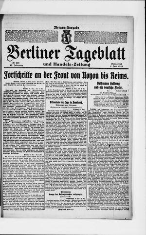 Berliner Tageblatt und Handels-Zeitung vom 01.06.1918