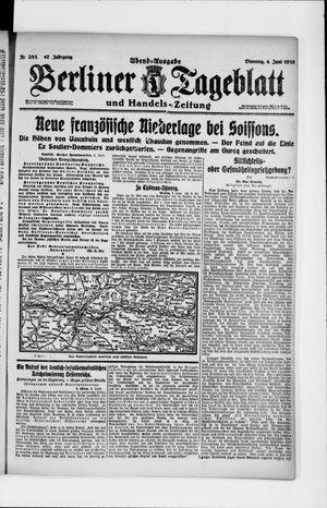 Berliner Tageblatt und Handels-Zeitung vom 04.06.1918