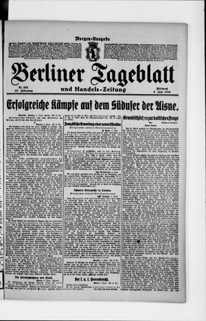 Berliner Tageblatt und Handels-Zeitung on Jun 5, 1918