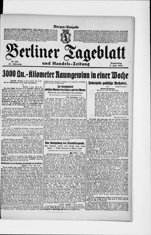 Berliner Tageblatt und Handels-Zeitung vom 06.06.1918