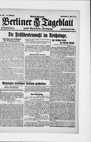 Berliner Tageblatt und Handels-Zeitung vom 08.06.1918