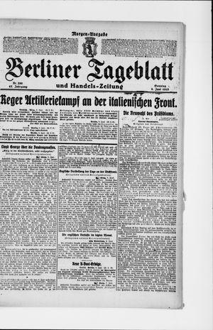 Berliner Tageblatt und Handels-Zeitung vom 09.06.1918