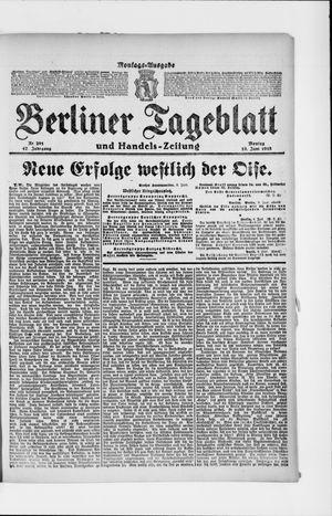 Berliner Tageblatt und Handels-Zeitung vom 10.06.1918