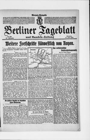 Berliner Tageblatt und Handels-Zeitung vom 11.06.1918