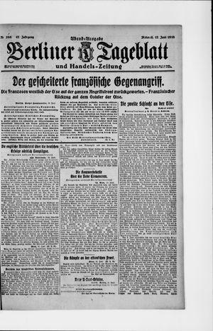 Berliner Tageblatt und Handels-Zeitung vom 12.06.1918