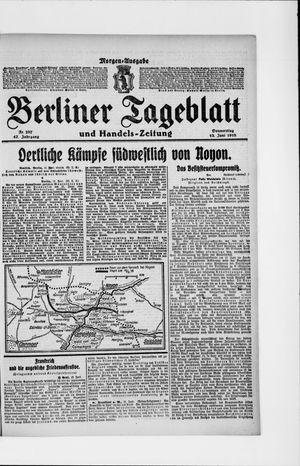 Berliner Tageblatt und Handels-Zeitung vom 13.06.1918