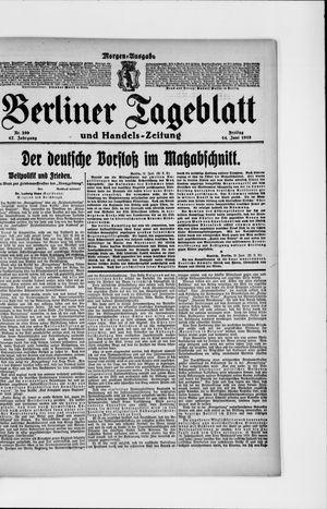 Berliner Tageblatt und Handels-Zeitung vom 14.06.1918
