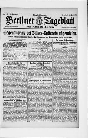 Berliner Tageblatt und Handels-Zeitung vom 15.06.1918