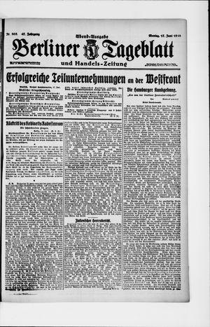 Berliner Tageblatt und Handels-Zeitung vom 17.06.1918