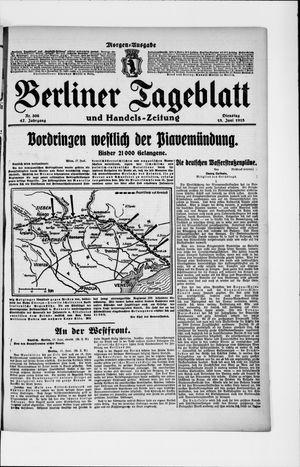 Berliner Tageblatt und Handels-Zeitung vom 18.06.1918