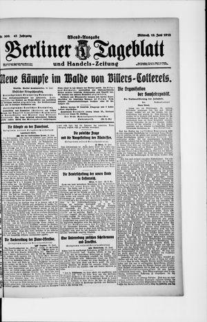 Berliner Tageblatt und Handels-Zeitung vom 19.06.1918